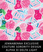 Alpha Xi Delta Fabric JennaBenna Exclusive Quilt Squares - Sorority Apparel