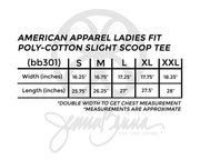 American Apparel Ladies Poly-Cotton Slight Scoop Tee - JennaBenna Sorority