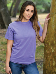 Flo Blue Crewneck With Floral Violets On Navy Blue Twill - JennaBenna Sorority