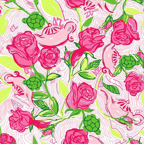 Delta Zeta Lilly Fabric - JennaBenna Sorority