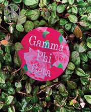 Large Embroidered Block Text Sorority Pin Back Button - Design 13 - JennaBenna Sorority