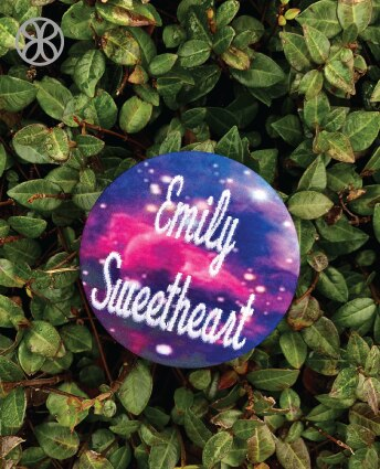 Large Embroidered Script Sorority Pin Back Button - Design 15 - JennaBenna Sorority