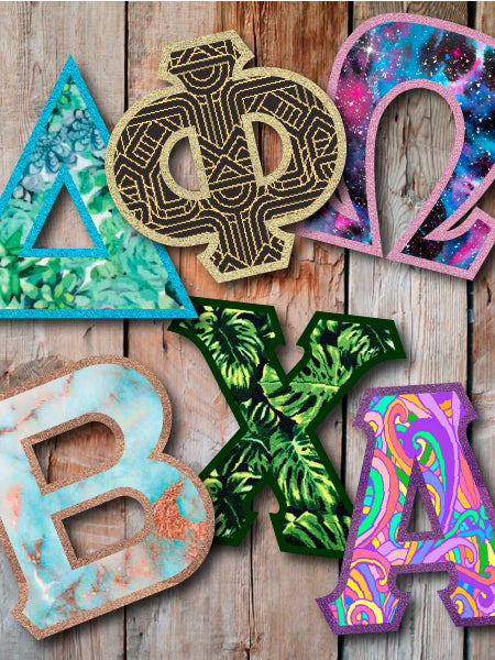 Create Your Own Letter DIY Letter Combination - Exclusive Fabrics - Sorority Apparel