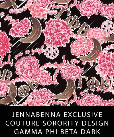 Gamma Phi Beta Fabric JennaBenna Exclusive Quilt Squares - JennaBenna Sorority