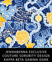 Kappa Beta Gamma Fabric JennaBenna Exclusive Quilt Squares - Sorority Apparel