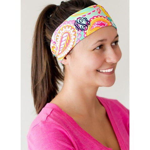Monogrammed Active Headband - JennaBenna Sorority