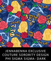 Phi Sigma Sigma Fabric JennaBenna Exclusive Quilt Squares - Sorority Apparel