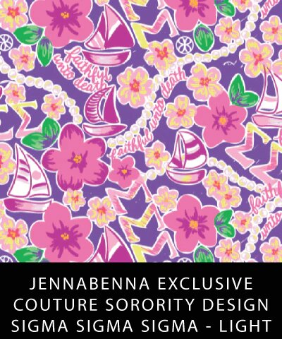 Sigma Sigma Sigma Fabric JennaBenna Exclusive Quilt Squares - Sorority Apparel