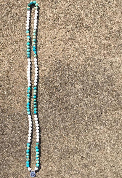 Natural Stone Mala Bracelet 108 Beads Mala Wrap Jewellery