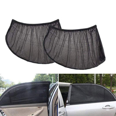 Vehicle Side Mirrors 2Pcs Car Window Shades Side Vehicle Curtains Uv Protection Sunshade
