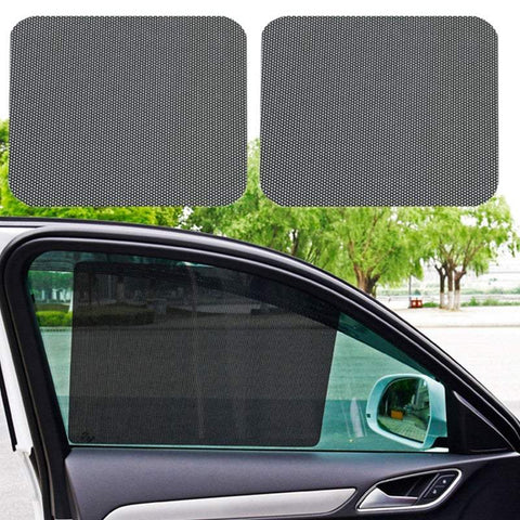 Car Sun Shades Pairs Of 42 X 38Cm Car Window Dotted Shade Stickers Reusable Car Side Window Shade