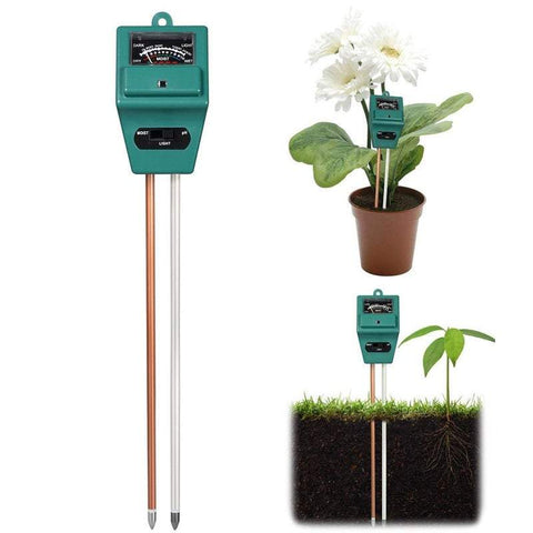 Gardening Tools 3 In 1 Soil Tester Square Head Soil Moisture Light And Ph/Acidity Tester