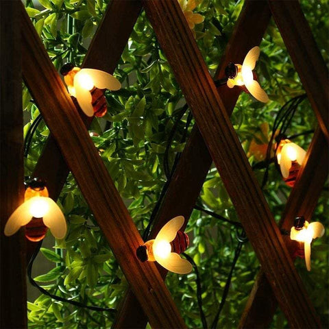 Strip Lights 30 Led Honey Bee Outdoor Solar Powered String Lights