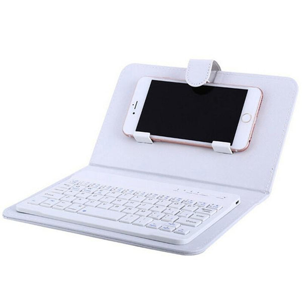 Portable Pu Leather Wireless Bluetooth Keyboard Phone Case