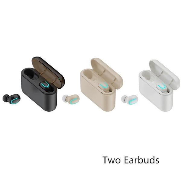 Universal Bluetooth Wireless V5.0 In-Earbuds With Portable Charging Case