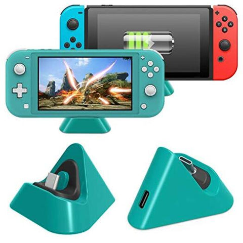 Gaming Compatible With Nintendo Switch Lite And Switch's Charging Dock Small Dock Types C Port Charger Station Blue