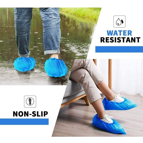 Shoe Care Disposable Covers Are Waterproof And Dustproof One Size Non-Slip Blue Protect Your Shoes Floor Carpet 50 Pair