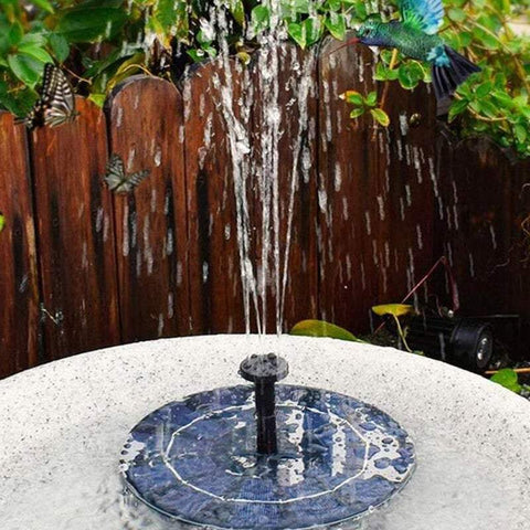 Water Features & Fountains Submersible Floating Solar Water Fountain Pump Kit