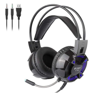Gaming Headsets Game Headphone 3.5Mm Wired Headphones Over Ear Headset Surround Sound Earphone With Microphone For Desktop Computer Pc