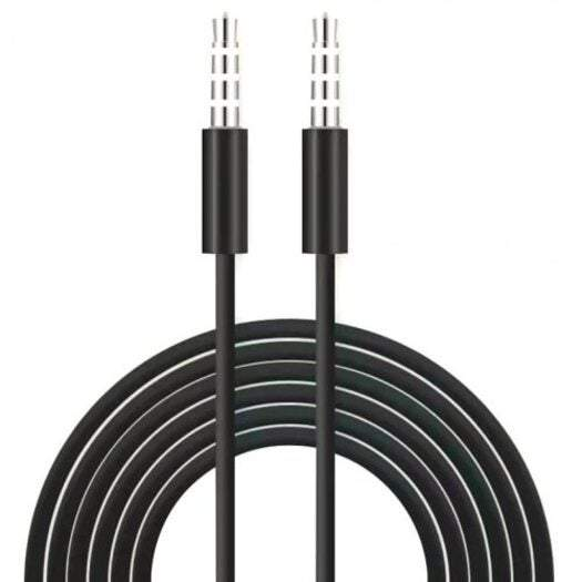 Phone Chargers Cables 3.5Mm Male To Audio Aux Cable 1M- Black