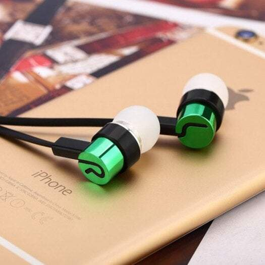 Earphones & Earpieces In-Ear Noodle Line Bass For Mp4 / Mp3- Green