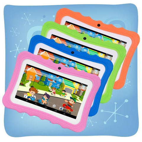 Kid's Tablets & Computers Colourful 7-Inch Android Tablet With Protective Case For Children