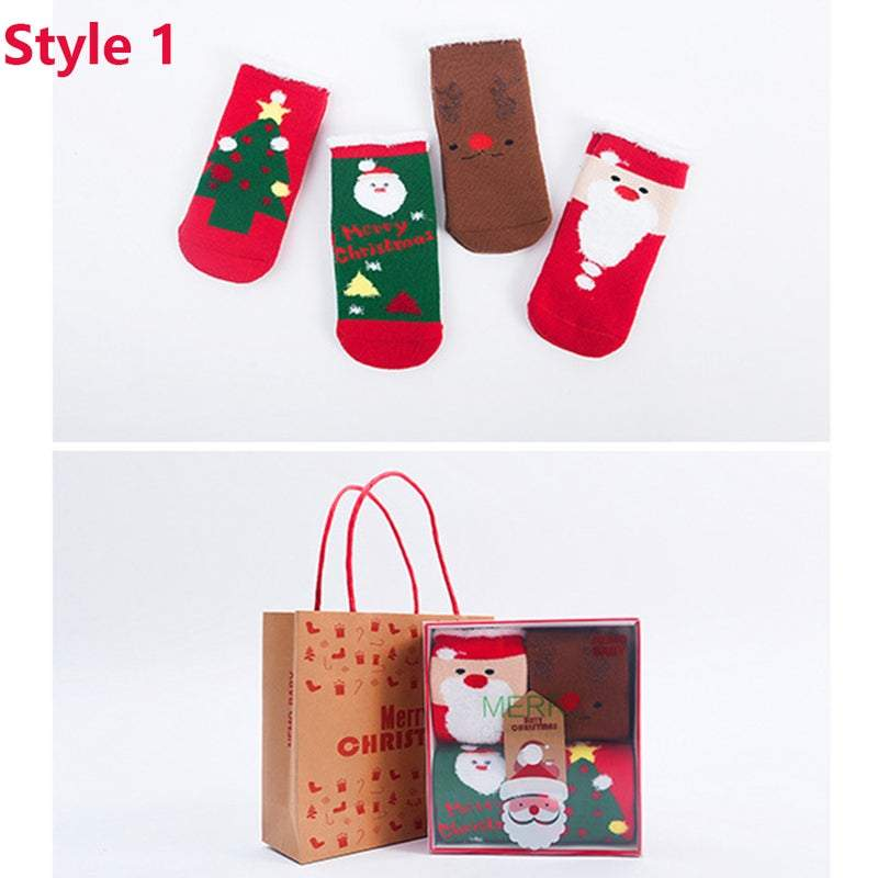 Baby Toddler Christmas Socks Festive Accessories for Kids