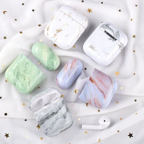 Marble Design Cute Little Smooth Airpods Case