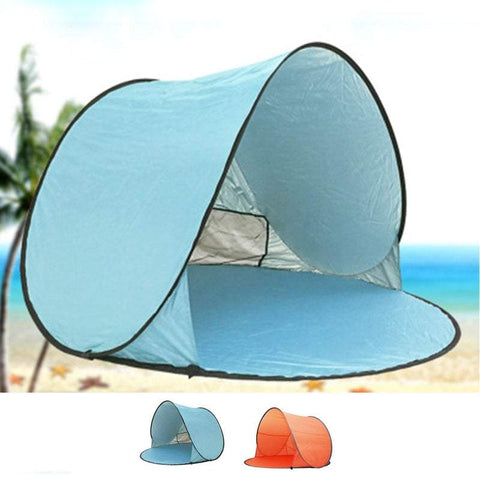 Pop Up Tents Outdoor Camping Beach 2-3 Person Tent Automatic Pop Up Tent Folding Hiking Tent Portabl