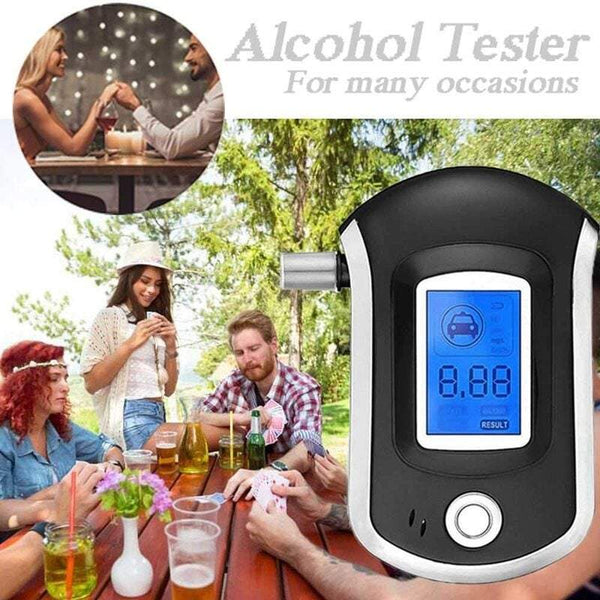 Breathalysers Portable Mini Alcohol Breath Tester With Digital Lcd Display