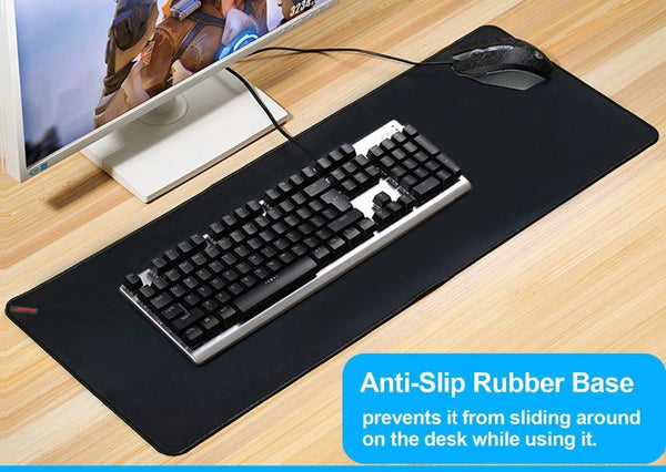 Large Size Black Gaming Mouse Pad Anti-Slip Natural Rubber Pc Computer Gamer Desk Mat