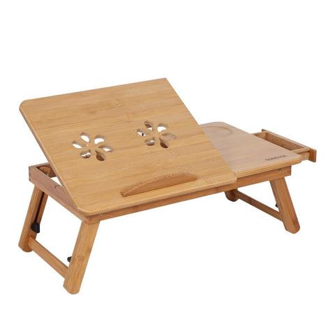 Portable Folding Bamboo Laptop Table Computer Stand Desk Home Office