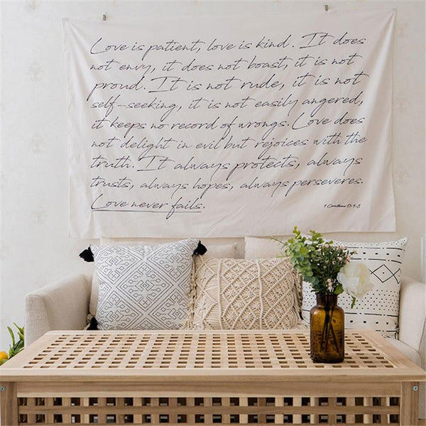 Corinthians Tapestry Hanging Wall Art Home Decor