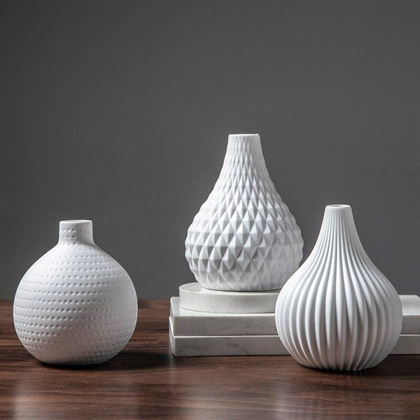 White Teardrop Vase Simple Home Decor
