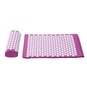 Purple Massage Acupressure Yoga Mat With Pillow Stress Relief Exercise Mat