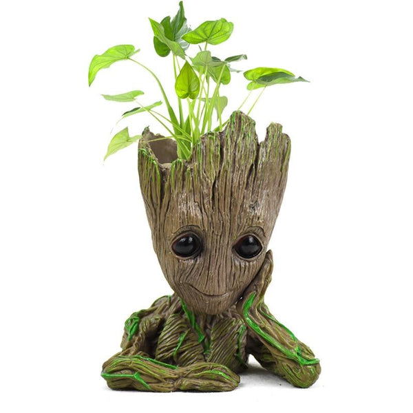 Mini Flower Pot Baby Groot Flowerpot Planter Cute Tree Man Pen Holder