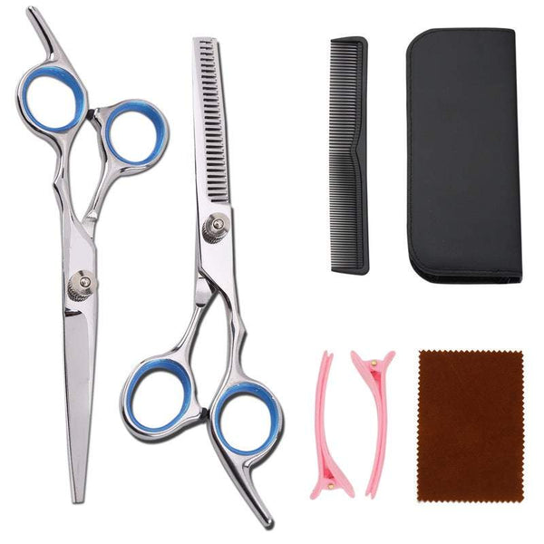 Salon Equipment Professional Hair Cutting Scissors Set Barber Shears Thinning Kit Home Hairdressing Tool