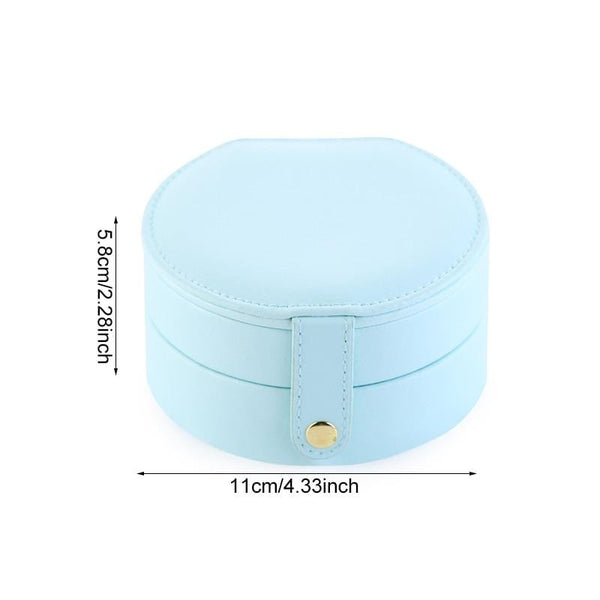 Travel Jewelry Case Portable Pu Leather Jewellery Storage Holder