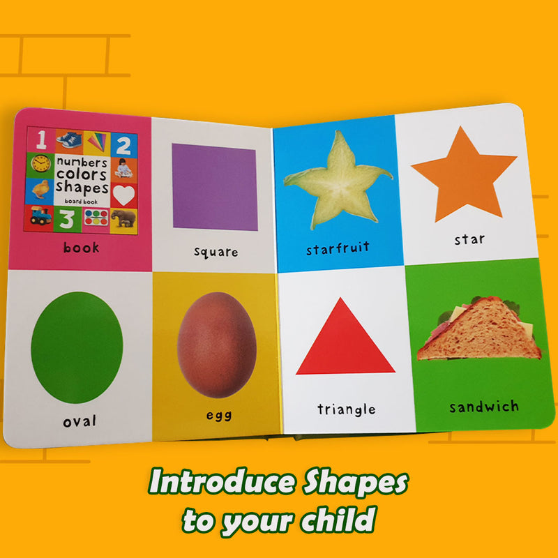 Priddy Books: Numbers Colours Shapes (Board Book)