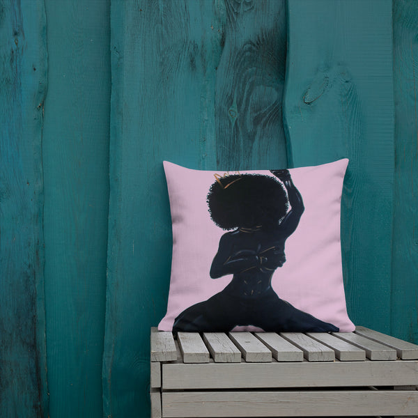 Black Heiress Pillow (Pink)