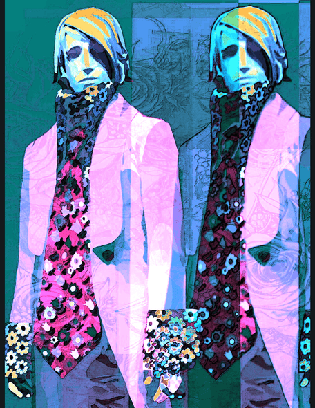 Archivo de imagen de Boys in the Ouchy Pink Flower Jackets