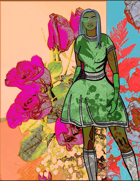 Scholarly Artist Gallery| Open Edition Prints| Flower Power Girl