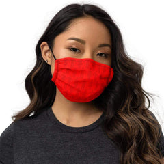 Red People Pattern Premium Gesichtsmaske