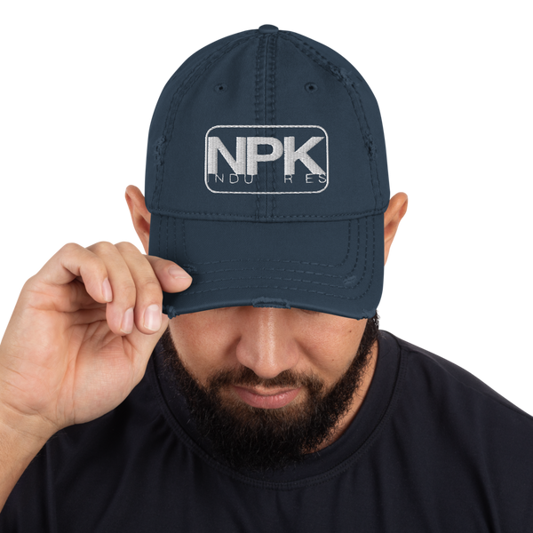 NPK Distressed Dad Hat