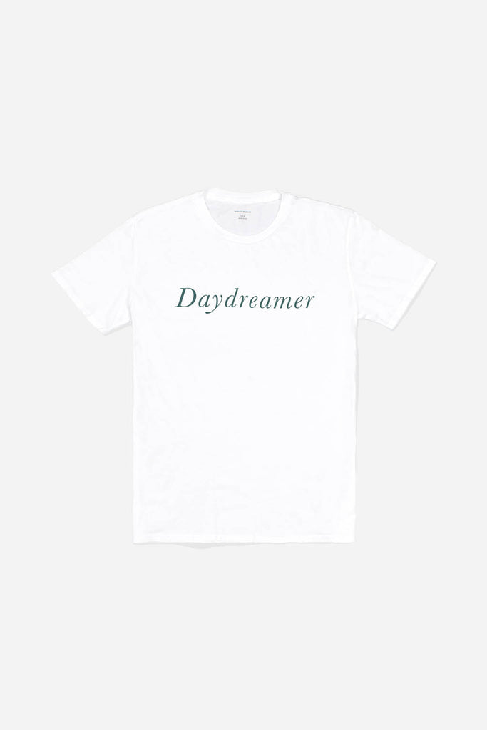 Quality Peoples Unisex Graphic T-Shirt Daydreamer White Front