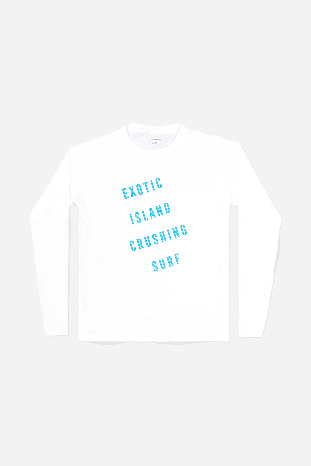 Quality Peoples Unisex Long Sleeve T-Shirt Exotic Island White Photo