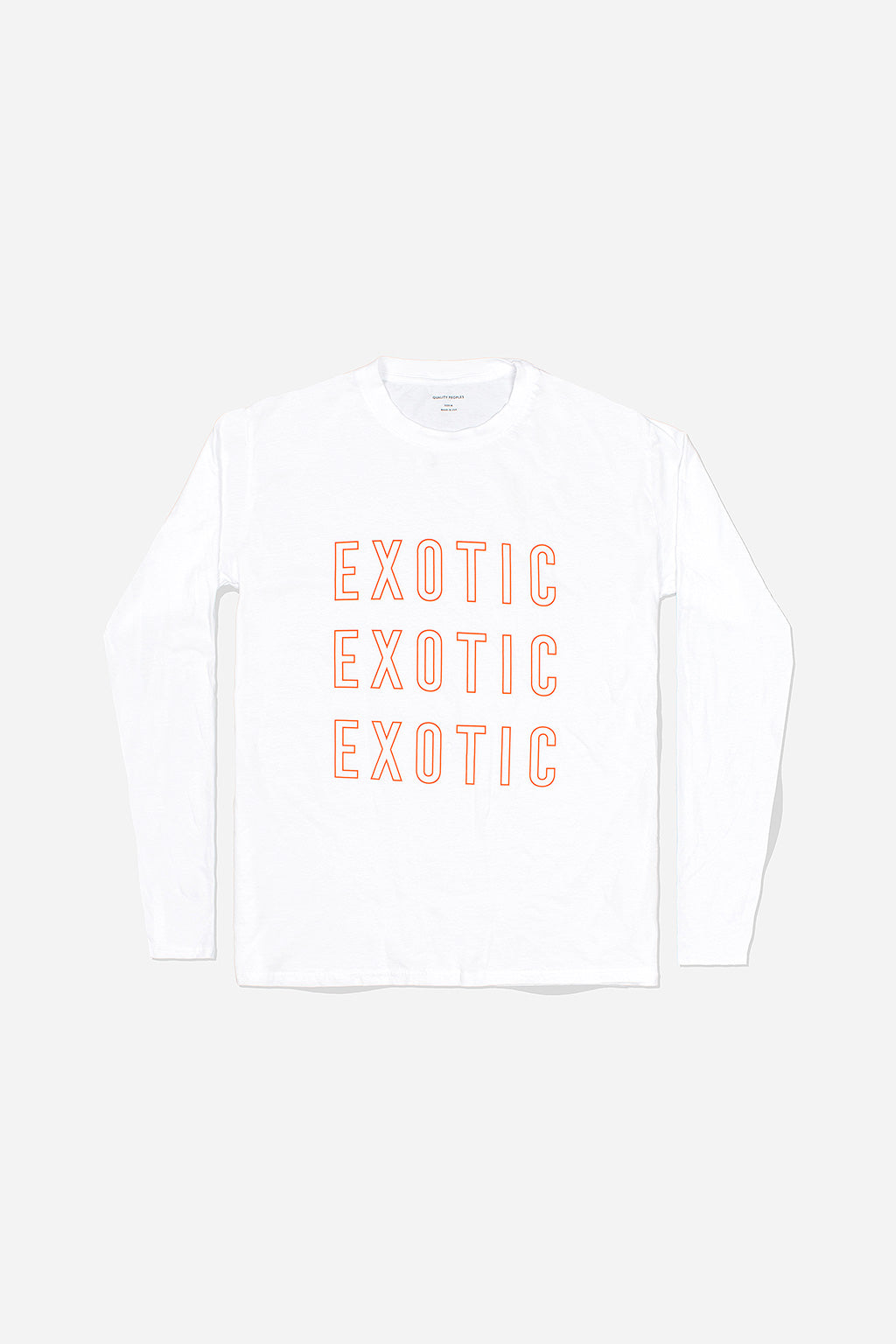 Quality Peoples Unisex Long Sleeve T-Shirt Exotic White Photo