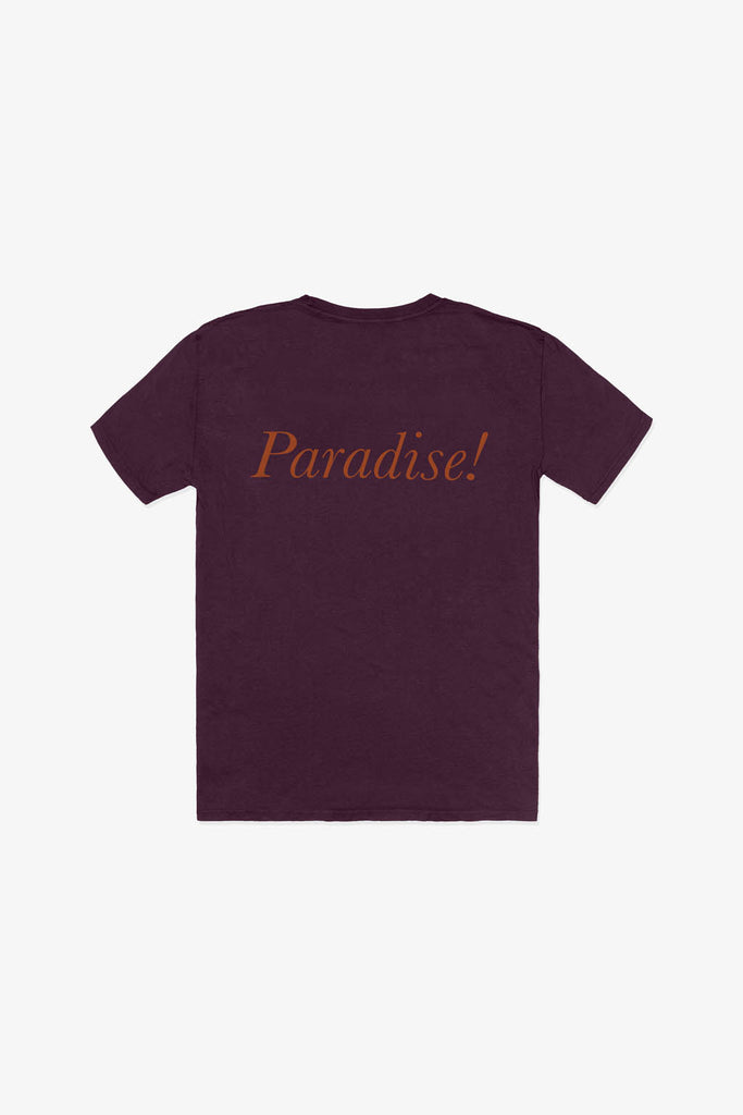 Quality Peoples Unisex Graphic T-Shirt Paradise! Wine Back