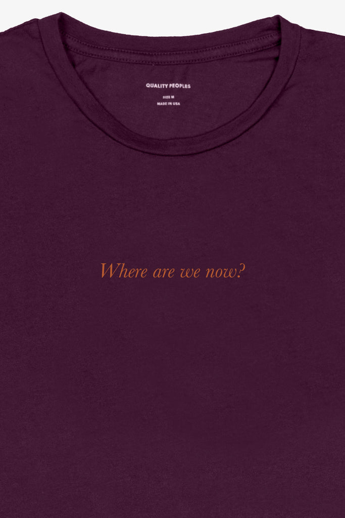 Quality Peoples Unisex Graphic T-Shirt Paradise! Wine Front Detail
