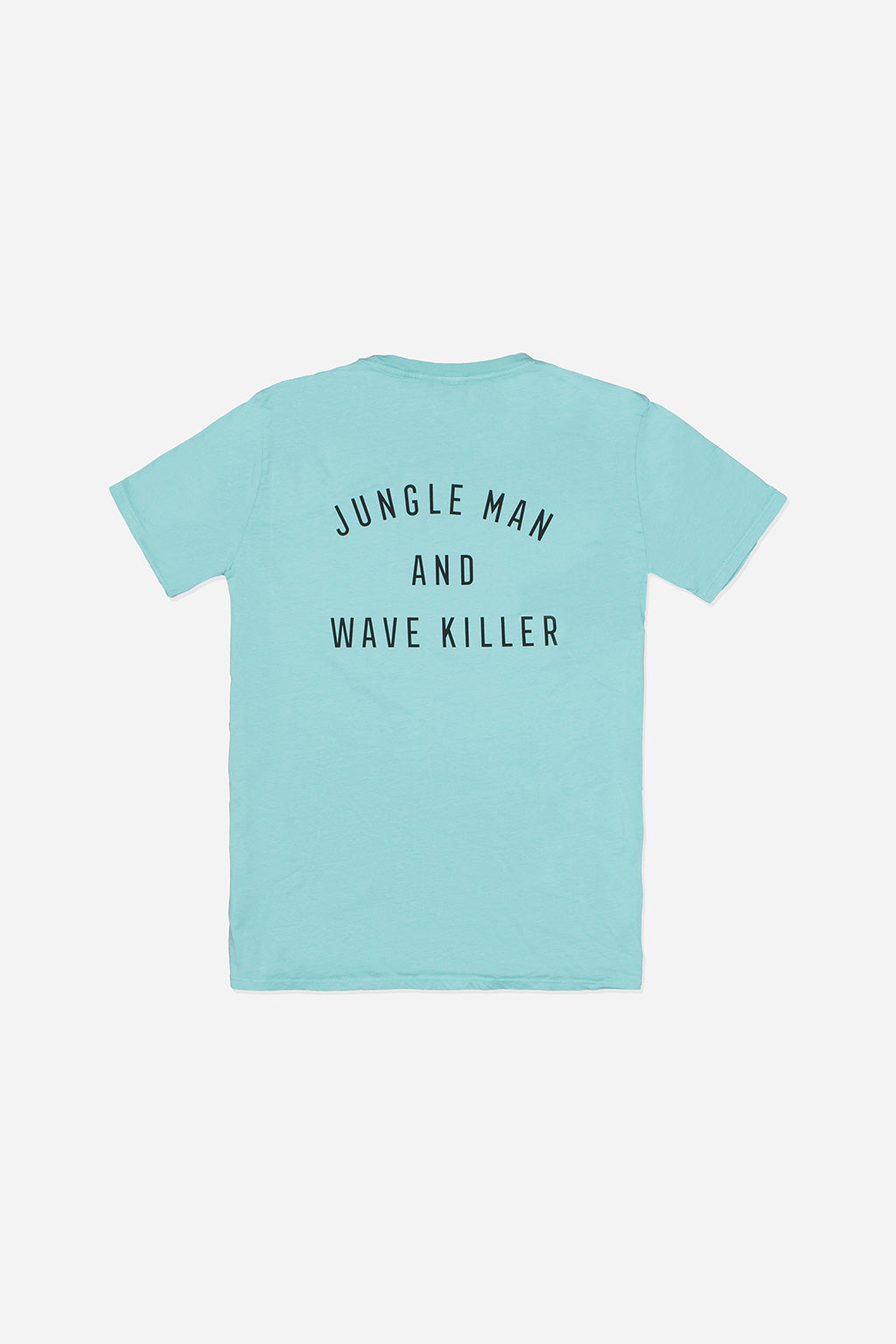 Quality Peoples Unisex Graphic T-shirt Jungle Man Sea Foam Green Back